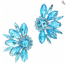 Clip On Earrings - Rhinestone Glamour (SKU: SOL5017)