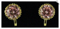 Clip On Earrings - Cubic Zirconia (SKU: SOL5029)