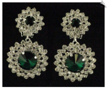 Clip On Earrings - Rhinestone Glamour (SKU: SOL5032)