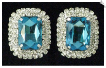 Clip On Earrings - Rhinestone Glamour (SKU: SOL5475)
