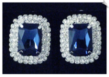 Clip On Earrings - Rhinestone Glamour (SKU: SOL5476)