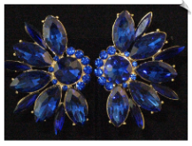 Clip On Earrings - Rhinestone Glamour (SKU: SOL5491)