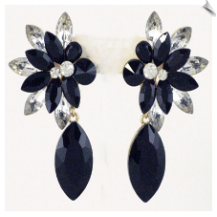 Clip On Earrings - Rhinestone Glamour (SKU: SOL5493)