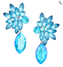Clip On Earrings - Rhinestone Glamour (SKU: SOL5495)
