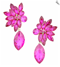 Clip On Earrings - Rhinestone Glamour (SKU: SOL5496)