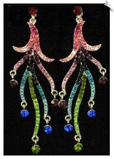 Clip On Earrings - Rhinestone Glamour (SKU: SOL5543)