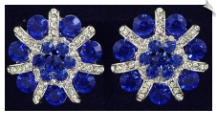 Clip On Earrings - Rhinestone Glamour (SKU: SOL5544)