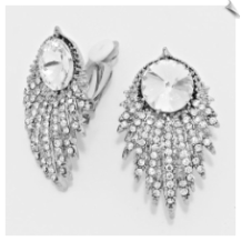 Clip On Earrings - Rhinestone Glamour (SKU: SOL5546)