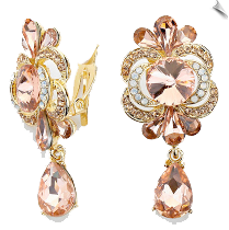 Clip On Earrings - Rhinestone Glamour (SKU: SOL5576)