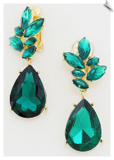 Clip Earrings -Crystal (SKU: SOL5598)