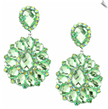 Clip Earrings - Rhinestone Glamour (SKU: SOL5611)