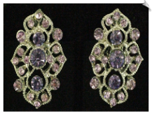 Clip Earrings - Rhinestone Glamour (SKU: SOL5645)
