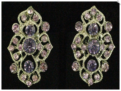 Clip Earrings - Rhinestone Glamour