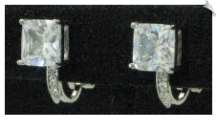 Clip Earrings - Cubic Zirconia (SKU: SOL5721)