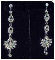 Clip Earrings - Chandelier (SKU: SOL6140)