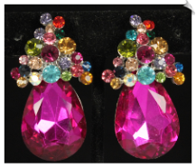 Clip Earrings - Glamour (SKU: SOL6406)