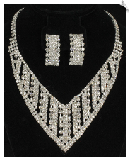 Necklace & Clip Earring Sets-GLAMOUR (SKU: SOL6407)