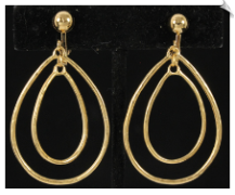 Clip Earrings - Modern (SKU: SOL6446)
