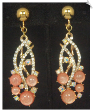 Clip Earrings - Glamour (SKU: SOL6856)