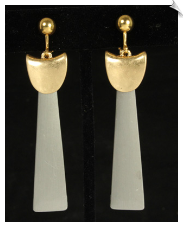 Clip Earrings - Art Deco (SKU: SOL6990)