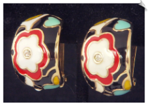 Clip On Earrings - Art Deco (SKU: SOL6769)