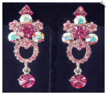 Clip Earrings - Crystal (SKU: SOL6746)