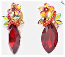 Clip Earrings - Crystal (SKU: SOL5939)