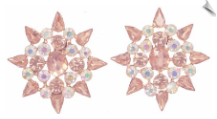 Clip Earrings - Glamour (SKU: SOL6791)