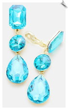 Clip Earrings - Crystal (SKU: SOL6757)