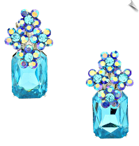 Clip On Earrings - Rhinestone Glamour (SKU: SOL5499)