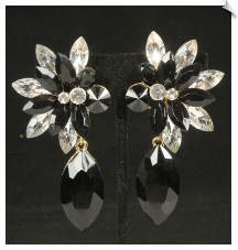 Clip Earrings - Glamour (SKU: SOL7027)