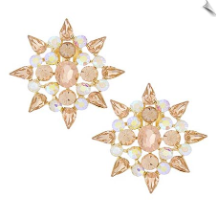 Clip Earrings - Glamour (SKU: SOL6085)