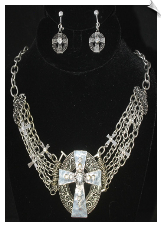 Necklace Set - Silver (SKU: SOL6022)