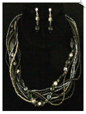 Necklace Set - Silver (SKU: SOL5298)