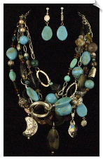 Necklace Set - Blue (SKU: SOL5314)