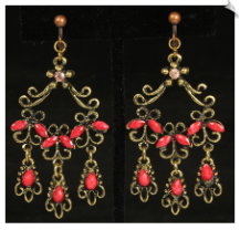 Chandelier clip earrings clip earrings fashion sku sol6977 aloadofball