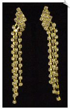 Clip On Earrings - Rhinestone Glamour (SKU: SOL1743)