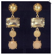 Clip Earrings - Glamour (SKU: SOL6677)
