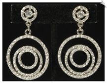 Clip On Earrings - Rhinestone Glamour (SKU: SOL6250)