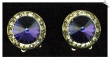 Clip On Earrings - Crystal (SKU: SOL2621)