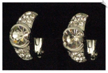 Clip On Earrings - Crystal (SKU: SOL2637)