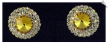 Clip On Earrings- Rhinestone Glamour (SKU: SOL3173)