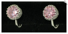 Clip On Earrings - Cubic Zirconia (SKU: SOL4301)
