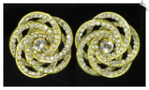 Clip On Earrings - Rhinestone Glamour (SKU: SOL4389)