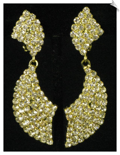Clip On Earrings - Rhinestone Glamour (SKU: SOL4910)