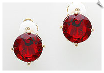 Clip On Earrings - Cubic Zirconia (SKU: SOL5485)
