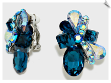 Clip Earrings - Crystal (SKU: SOL5564)