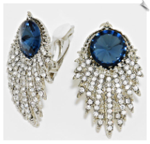 Clip Earrings - Rhinestone Glamour (SKU: SOL5593)