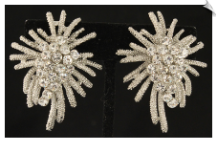 Clip On Earrings - Rhinestone Glamour (SKU: SOL6286)