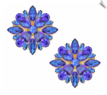 Clip Earrings - Glamour (SKU: SOL6361)